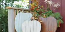 reclaimed wood pumpkins, crafts, halloween decorations, seasonal holiday decor, woodworking projects