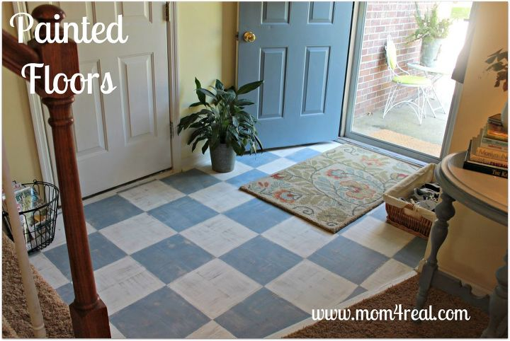 painted wood floor, flooring, painting - Painted Wood Floor Hometalk