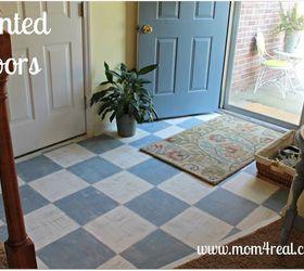 Painted Wood Floor, Flooring, Painting