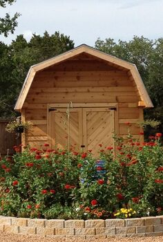 cedar barn flower garden, flowers, gardening, outdoor living