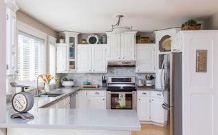 modern kitchen, White Kitchen Reveal via Hometalker Jennifer Lifford