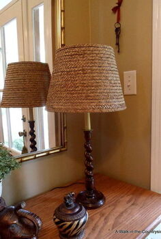 diy ballard seagrass shade, crafts, Ballard Knock Off Tasseau Lamp with Seagrass Shade