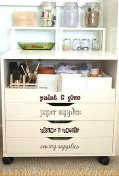 craft room makeover, craft rooms, home decor, home office, storage ideas, Lots of easy storage solutions