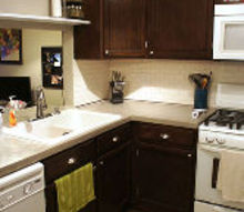 kitchen makeover concrete countertop, concrete masonry, countertops, diy, kitchen cabinets, kitchen design