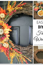 dig fall wreath cinnamon pinecones leaves, crafts, wreaths