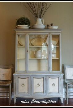 chalk paint french china hutch, chalk paint, doors, garages, home decor, painted furniture, This is a china hutch I refinished using ASCP in Paris Gray and Old White