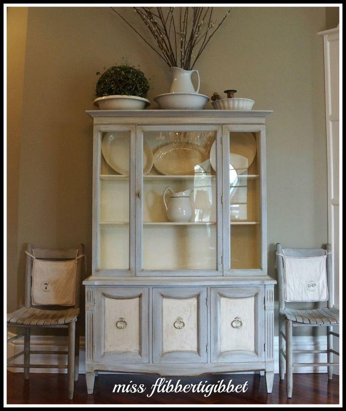 Paris Gray Kitchen Cabinets: Chalk Paint French China Hutch