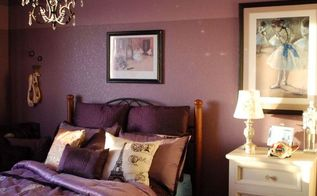 bedroom ideas purple makeover, bedroom ideas, home decor, painting