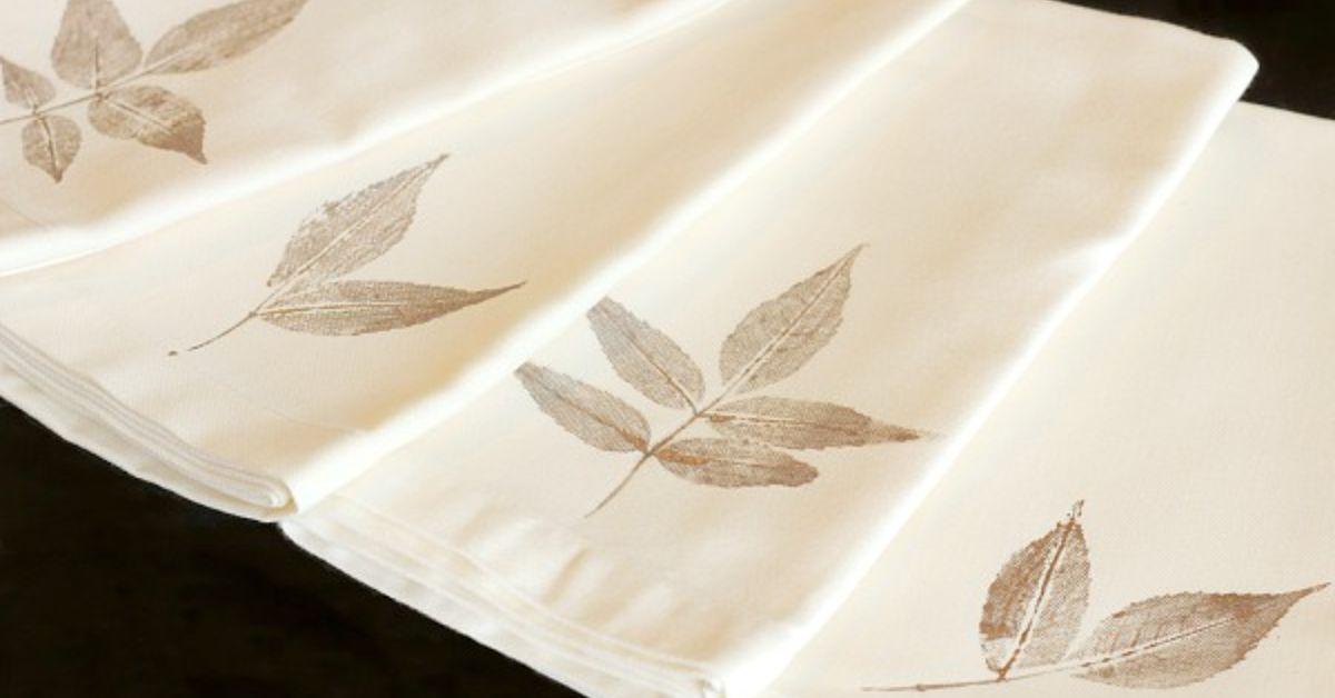 Diy Leaf Stamped Napkins Hometalk