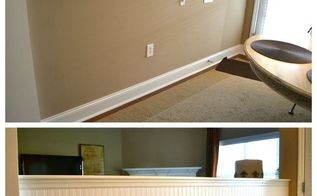wallpaper apply beadboard instructions, wall decor, woodworking projects