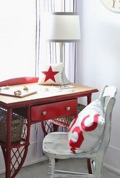 easy way to fix a damaged piece of furniture for under 10, painted furniture, Add cork to a desk top