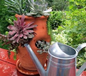 Plant A Succulent Garden In A Strawberry Pot, Container Gardening, Flowers,  Gardening,