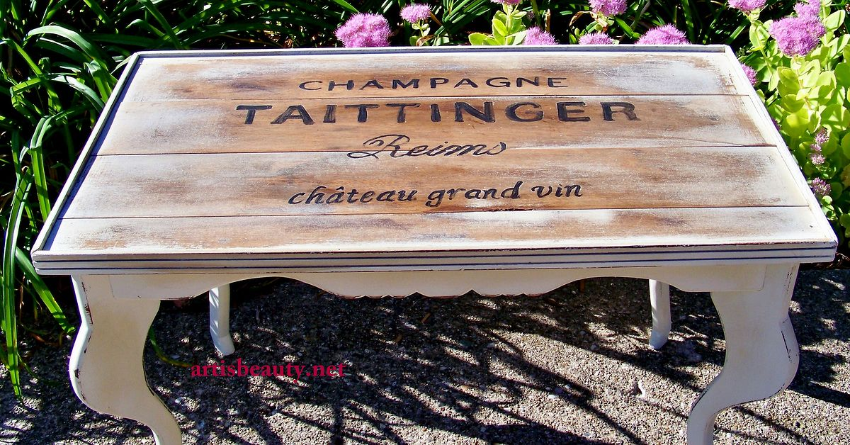 Champagne Crate Inspired Rescued Table Hometalk