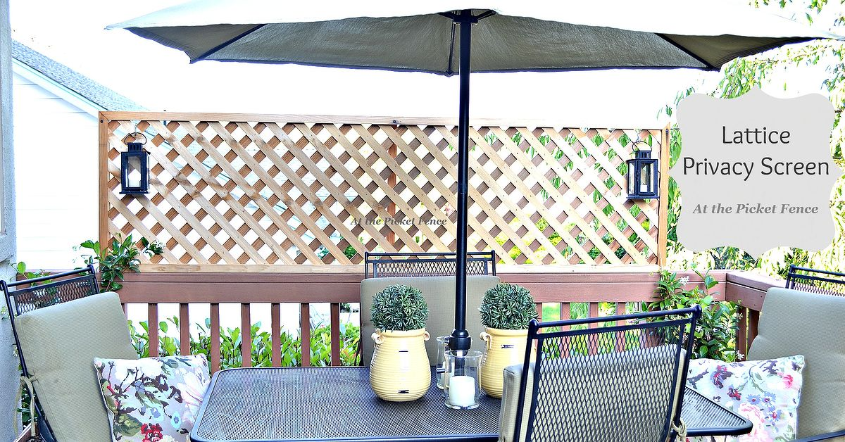 How To Add Privacy To A Deck Wood Lattice Screen Hometalk