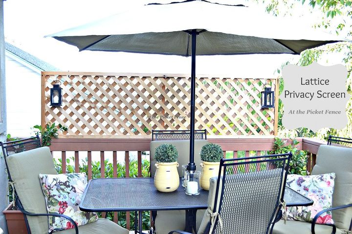 How to add privacy to a deck wood lattice screen hometalk for How to add privacy to backyard
