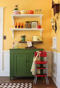 diy shelves add fun and color to a dining room, home decor, shelving ideas, Finished Lemonade Stand
