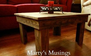 diy table made of fence posts, diy, painted furniture, repurposing upcycling, woodworking projects, Finished table made of fence posts