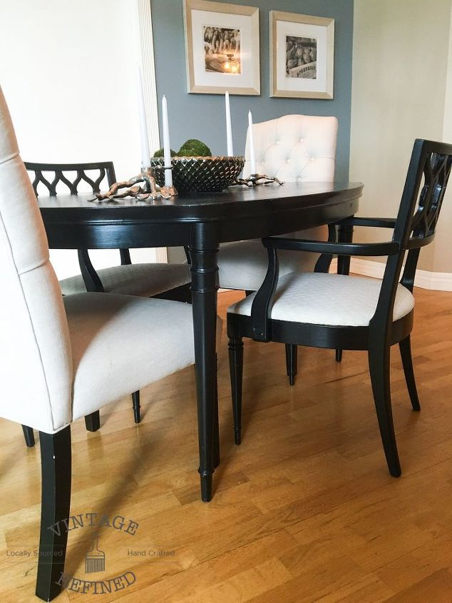 Dining room update painting dining table chairs hometalk for Dining room update ideas