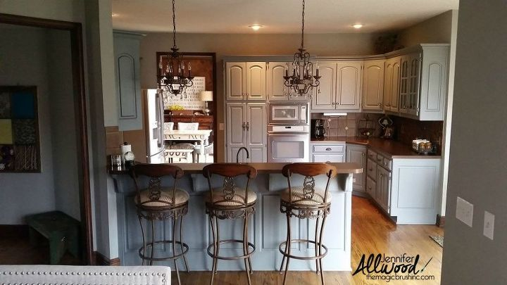 Our Kitchen Cabinet Transformation: From Gold -----> Gray