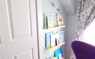 ikea picture ledges as bookshelves, bedroom ideas, organizing, shelving ideas, storage ideas