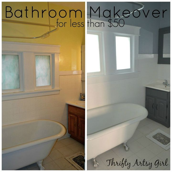 The Power Of Paint Shades Of Grey Apartment Bathroom Reveal PaintJob Home