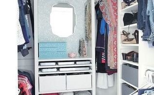 diy custom closet from cluttered mess to dressing room style, closet, diy, organizing, storage ideas