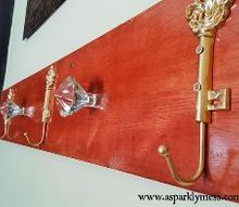 vintage diy coat hanger, diy, foyer, how to, organizing, wall decor