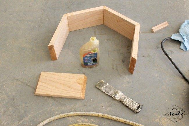 DIY Hexagon Side Table   Hometalk