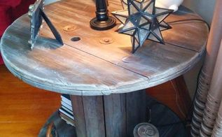love my spool table, painted furniture, repurposing upcycling