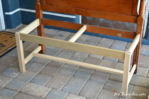 Making A Bench From A Bed Frame