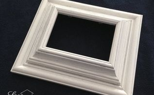 diy chunky photo frame use those old dusty frames, crafts, repurposing upcycling