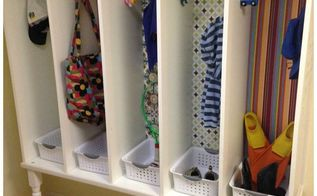 save your sanity build a personalized mudroom cubby system, foyer, organizing, storage ideas