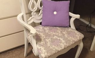 chair upcycle fit for a queen, how to, painted furniture, reupholster