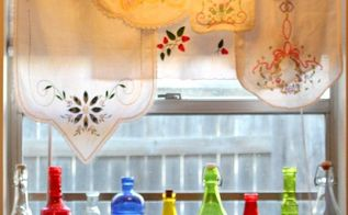 a colorful alternative to curtains, repurposing upcycling, window treatments, windows