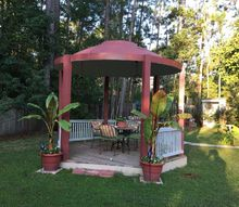 old satellite dish it is 12 foot around turned into gazebo, diy, outdoor furniture, outdoor living, repurposing upcycling