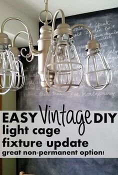 diy light cages for an inexpensive update to any light fixture, home decor, lighting