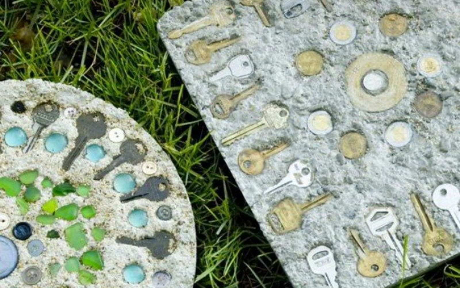 s 17 stunning ideas for your dollar store gems, crafts, gardening, Decorate DIY stepping stones for the yard