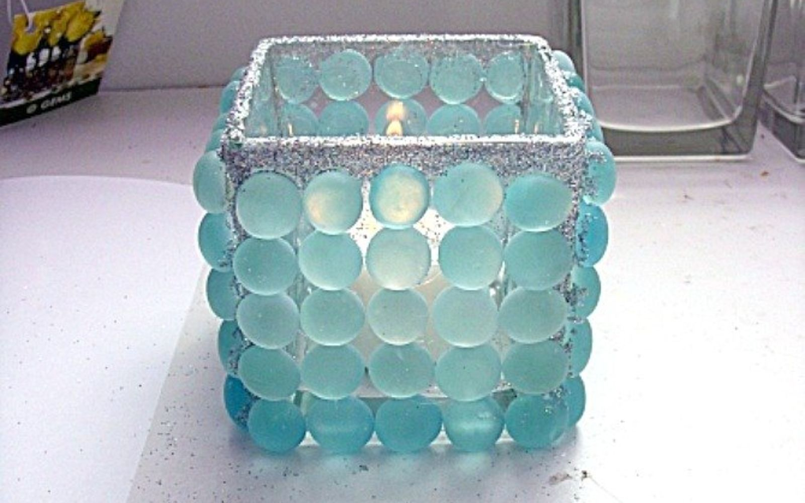 s 17 stunning ideas for your dollar store gems, crafts, gardening, Dress up a Dollar Store votive