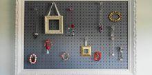 jewelry pegboard diy, organizing, repurposing upcycling, wall decor