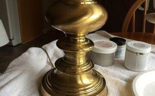 brass lamp revamp, chalk paint, lighting