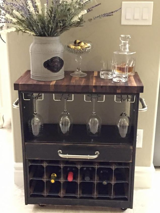 wine cart from this hometalk