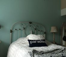 q decor for bedding with a vintageheadboard, bedroom ideas, shabby chic