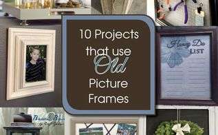 upcycle old pictures frames a round up, crafts, repurposing upcycling