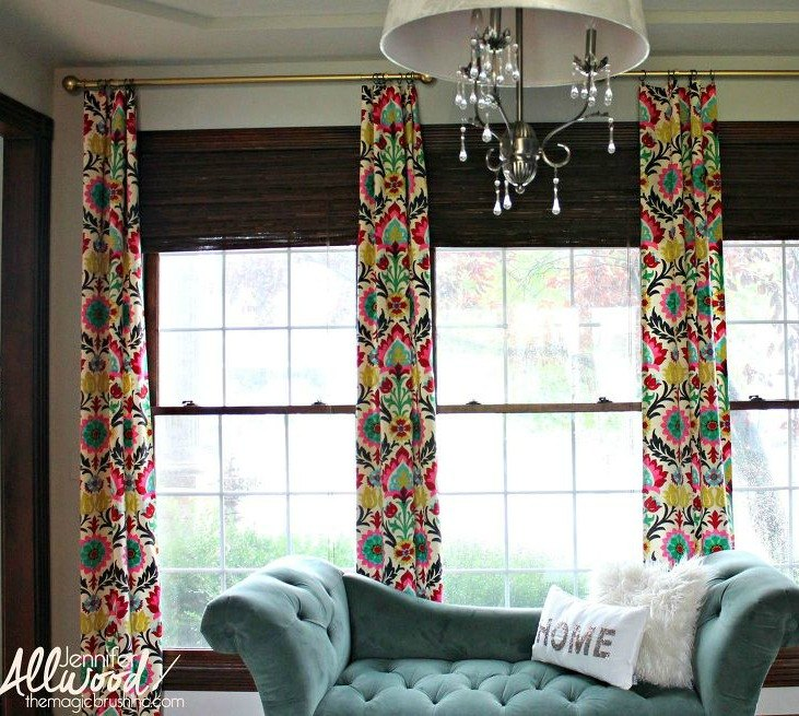 Hang Faux Curtains On A Large Window