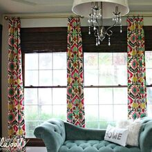 s these 13 viral ideas will make your home look expensive on a budget, home decor, Hang faux curtains on a large window