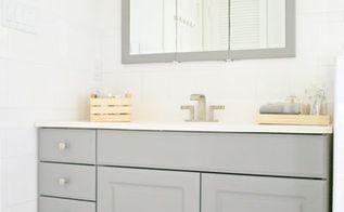 bathroom mini makeover, bathroom ideas, diy, home improvement, painted furniture