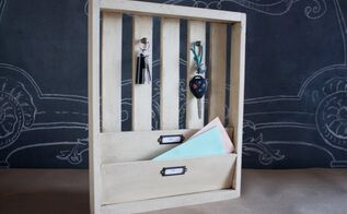 key and mail organizer, how to, organizing, woodworking projects