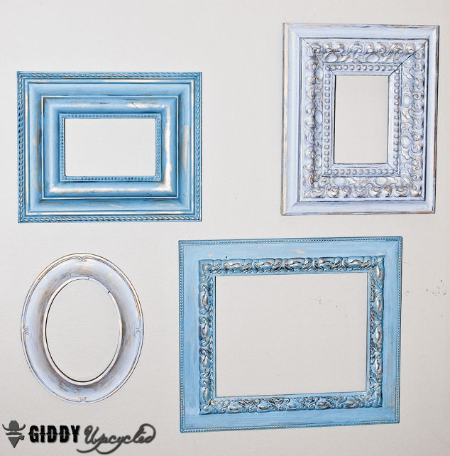 Vintage Frames Spray Painted White For Gallery Wall Hometalk