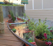 the canoe pond, outdoor living, ponds water features, Enjoy this interesting Canoe Pond Oxymoron