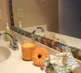 mosaic tile framed mirror bathroom ideas home decor tiling my 15 mirror